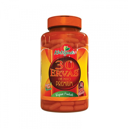 Chá 30 Ervas Premium 120 Cápsulas de 525mg - Katiguá
