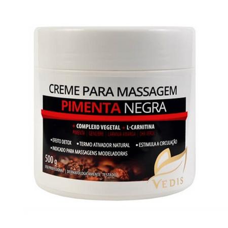 Creme de Massagem Pimenta Negra 500g – Vedis - Saúde Pura