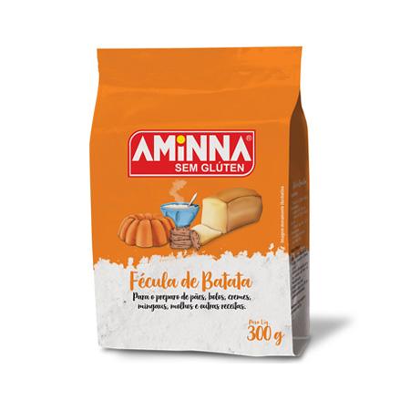Fécula de Batata Sem Glúten 300g – Aminna - Saúde Pura