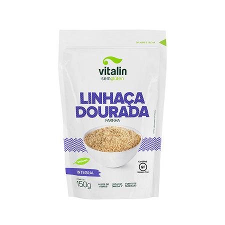 Farinha de Linhaça Dourada Integral 150g – Vitalin