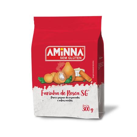 Farinha de Rosca Sem Glúten Sem Lactose SG 300g – Aminna - Saúde Pura