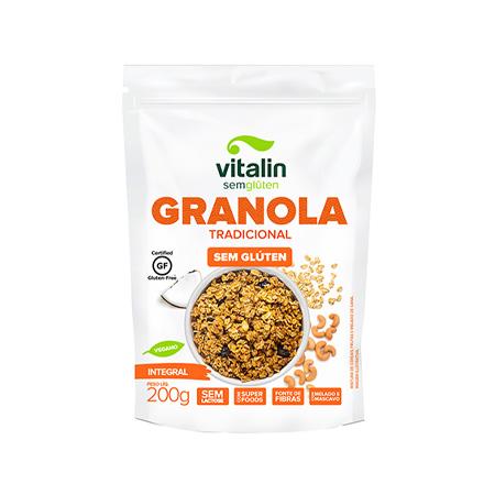 Granola Tradicional Integral Sem Glúten 200g – Vitalin