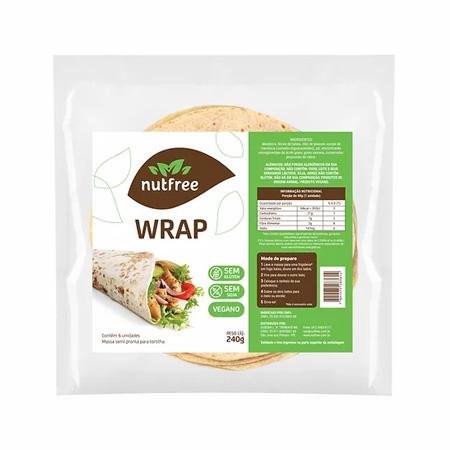 Massa para Wrap Sem Glúten (Pacote com 6 unidades) 240g – Nutfree
