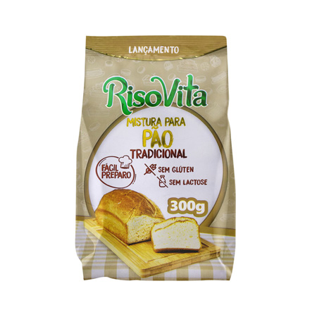 Mistura para Pão Tradicional Sem Glúten 300g – RisoVita