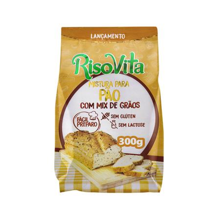 Mistura para Pão com Mix de Grãos 300g – RisoVita