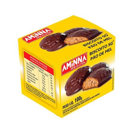 Pão de Mel Meio Amargo Tipo Biscoito Sem Glúten 100g – Aminna