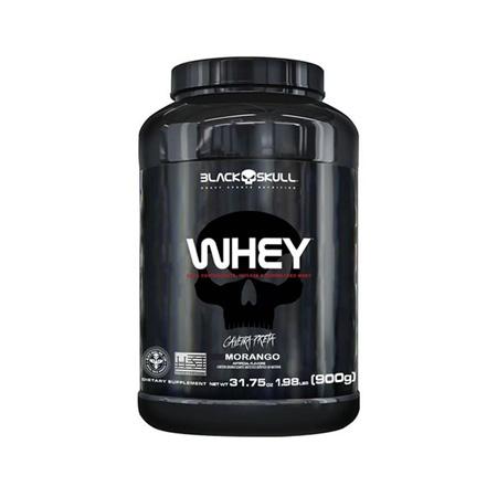 Whey Protein Sabor Morango 900g - Black Skull