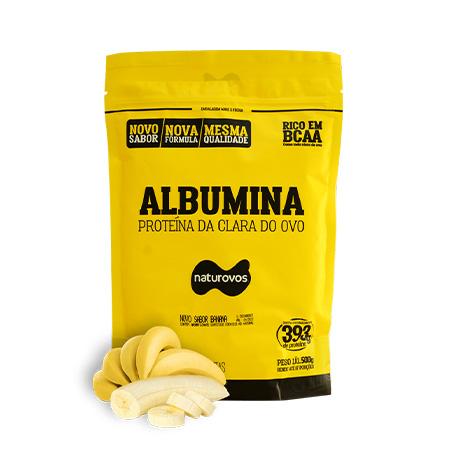 Albumina 500g Sabor Banana - Naturovos