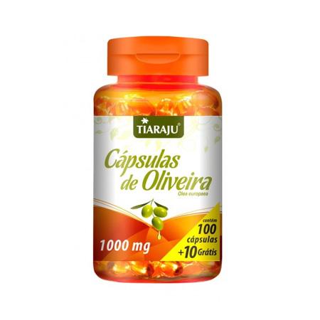 Cápsulas de Oliveira (1000mg) 100 + 10 Cápsulas - Tiaraju