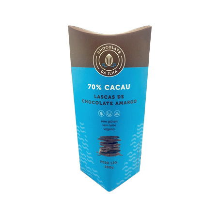 Lascas de Chocolate Amargo 200g - Chocolate da Ilha