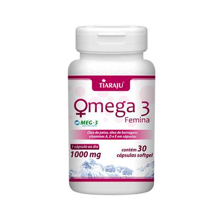 Ômega 3 Femina 1000 mg 30 Cápsulas - Tiaraju