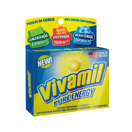 Vivamil Caixa com 5 Comprimidos Suplemento de Cafeína